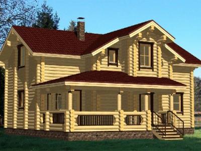 Дом из бревна №19 Белус