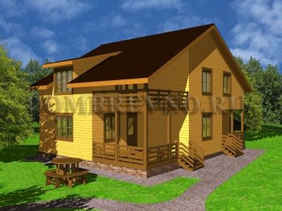 Дом из бруса №139 Автоном