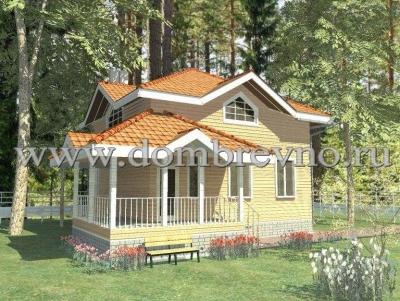 Дом из бруса Зимний дом