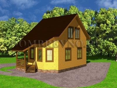 Дом из бруса №134 Парадиз