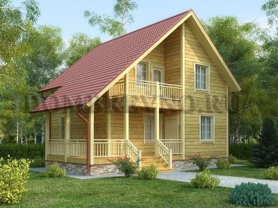 Дом из бруса №163 Туба
