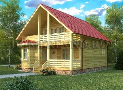 Дом из бруса №123 Леумоин