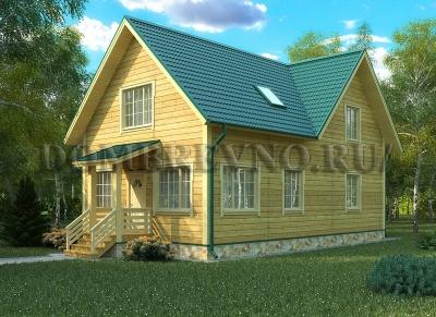 Дом из бруса №127 Фантазия