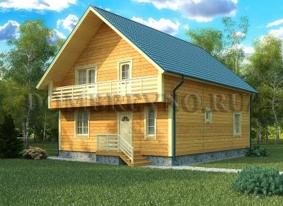 Дом из бруса №118 Мусат