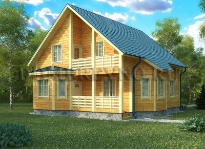 Дом из бруса №122 Фунодор