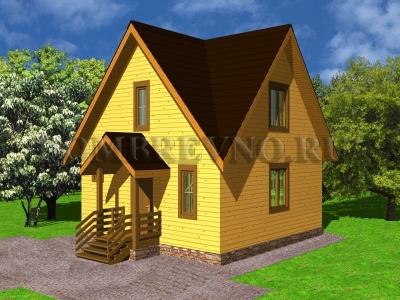 Дом из бруса №148 Ника