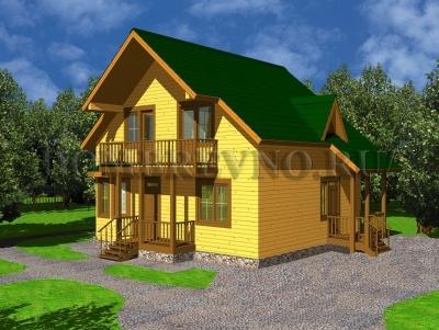 Дом из бруса №149 Бригантина