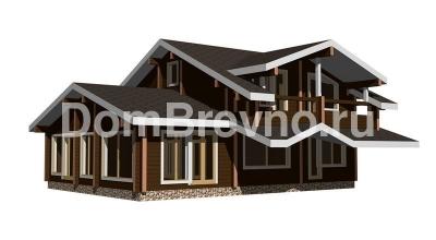 Дом из бруса №110 Дельта