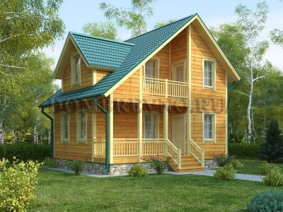 Дом из бруса №154 Людвиг